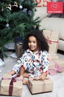 Пижамный комплект с принтом елочных игрушек Minijammies