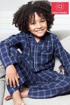 Minijammies Harper Dark Check Print PJ Set