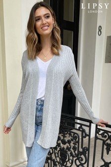 Lipsy Knitted Pleated Ribbed Cardigan