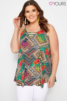Yours Curve Geometric Cami Swing Top