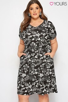 Yours Curve Printed T-Shirt Dress