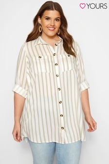 Yours Curve Striped Shirt