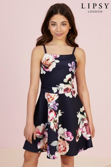 Lipsy Girl Floral Scuba Dress