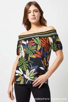 Dorothy Perkins Leaf Stripe Bardot Top