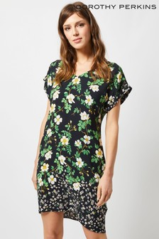 Dorothy Perkins Border Daisy Print Shift Dress