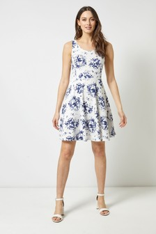 Dorothy Perkins Tie-Dye Seamed Jersey Dress