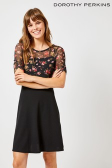 Dorothy Perkins Floral Mesh 2-in-1 Dress