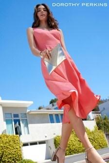 Dorothy Perkins Strapy Plain Sweetheart Midi Dress