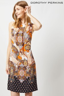 Dorothy Perkins Tall Paisley Border Print Shift Dress