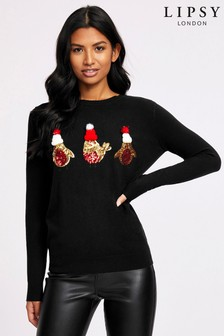 Lipsy Three Robins Christmas Jumper