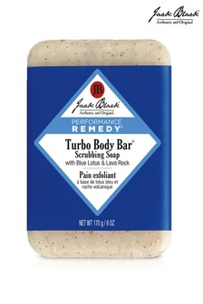 Jack Black Turbo Body Bar® Scrubbing Soap with Blue Lotus & Lava Rock 170g
