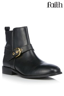 Faith Buckle Ankle Boots With Buckle Detail