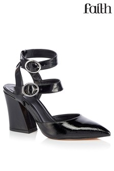 Faith Double Strap Buckle Court Shoes
