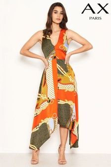 AX Paris Scarf Print Wrap Dress
