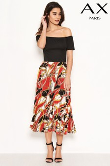 AX Paris 2-In-1 Pleated Skirt Dress
