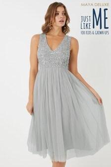 Maya Sleeveless Midi Dress