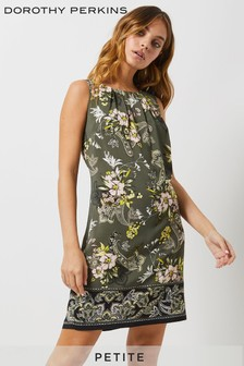 Dorothy Perkins Petite Paisley Border Shift Dress