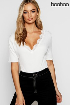 Boohoo V neck T-Shirt