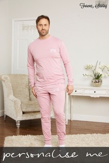 Personalised Mens Long Sleeve Lounge Set by Forever Sewing