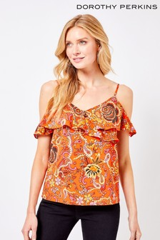 Dorothy Perkins Paisley Cold Shoulder Top