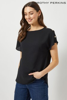 Dorothy Perkins Button Shoulder Tee