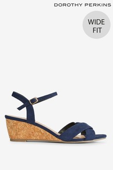 Dorothy Perkins Revel Wedge Wide Fit Sandals