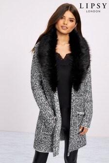 Kardigánový kabátik Lipsy s kožušinou na golieri