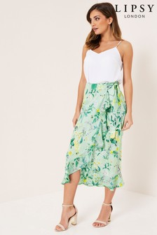 Lipsy Gracie Wrap Midi Skirt