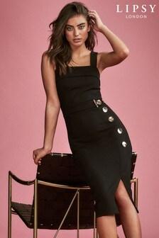 Lipsy Button Through Pinafore Dress