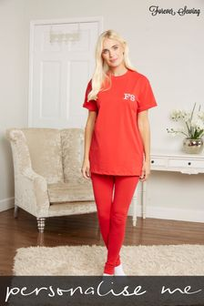 Personalised Womens T-Shirt Lounge Set by Forever Sewing