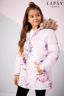 Lipsy Girl Ava Print Reversible Coat
