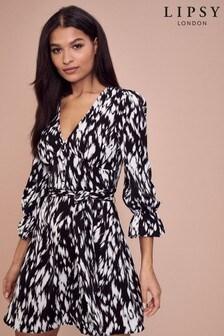 Lipsy Long Sleeve Tea Dress