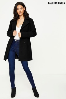 Fashion Union Double Breasted Coat