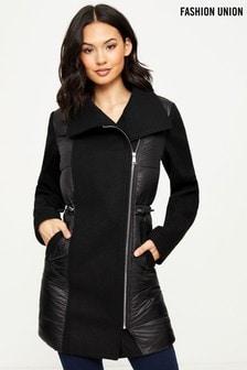 Fashion Union Formal Padded Coat