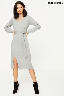 Fashion Union Jumper Midi Dress