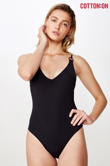 Cotton On Ring Front One Piece Swimsuit
