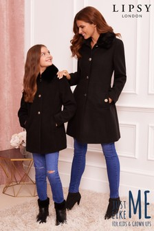 Lipsy Girl Faux Wool Coat