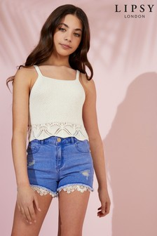 Lipsy Girl Crochet Top