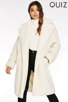 Quiz Teddy Bear Long Sleeve Coat