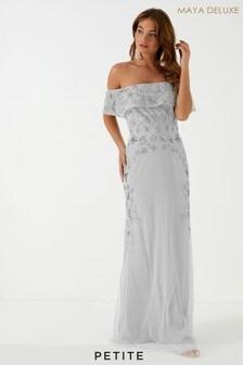 Maya Petite Embellisment Bardot Maxi Dress