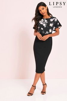 Lipsy Floral 2-In-1 Bodycon Dress