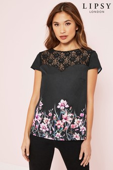 Lipsy Floral Lace Insert Tee