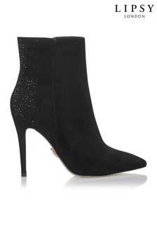 Lipsy Diamanté Back Ankle Boots