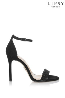Lipsy Diamanté Barely There Heeled Sandals