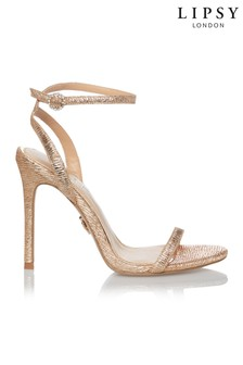 Lipsy Diamanté Buckle Barely There Heeled Sandals