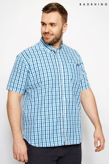 BadRhino Short Sleeve Grid Check Shirt