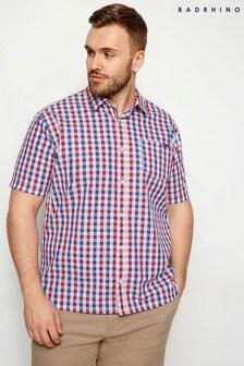 BadRhino Short Sleeve Square Check Shirt