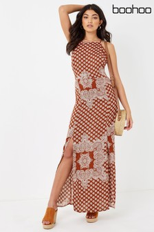 Boohoo Paisley Maxi Dress