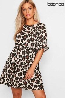Boohoo Curve Smock Dress