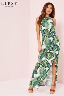 Lipsy Tropical High Neck Maxi Dress